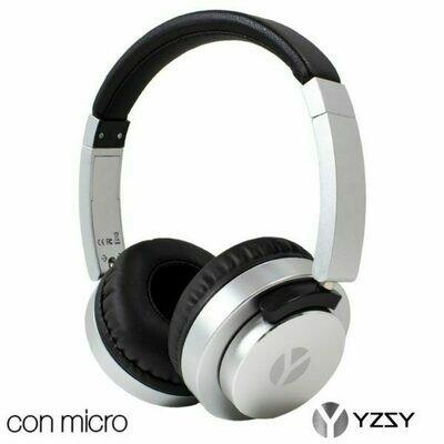 Auriculares Cascos Vigo Universal Stereo YZSY Silver