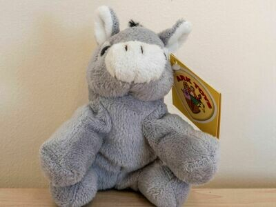 SMALL SOFT SITTING DONKEY