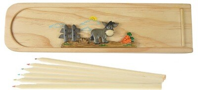 DONKEY PENCIL CASE (WOODEN)