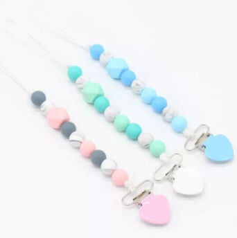 Heart Silicone Dummy Chain