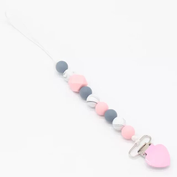 Heart Silicone Dummy Chain