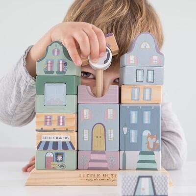 Little Dutch Wooden Building Blocks Houses