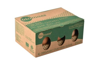 Eggs Brown Organic بيض بني عضوي (Box) - Biomass
