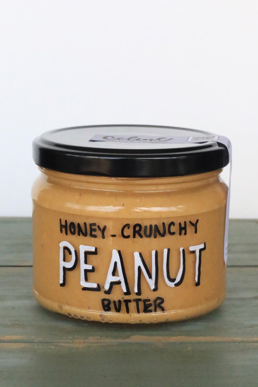 Peanut Butter Honey Crunchy دهن زبدة الفول السوداني عسل مقدد (Jar) - Celine Home Made Delights