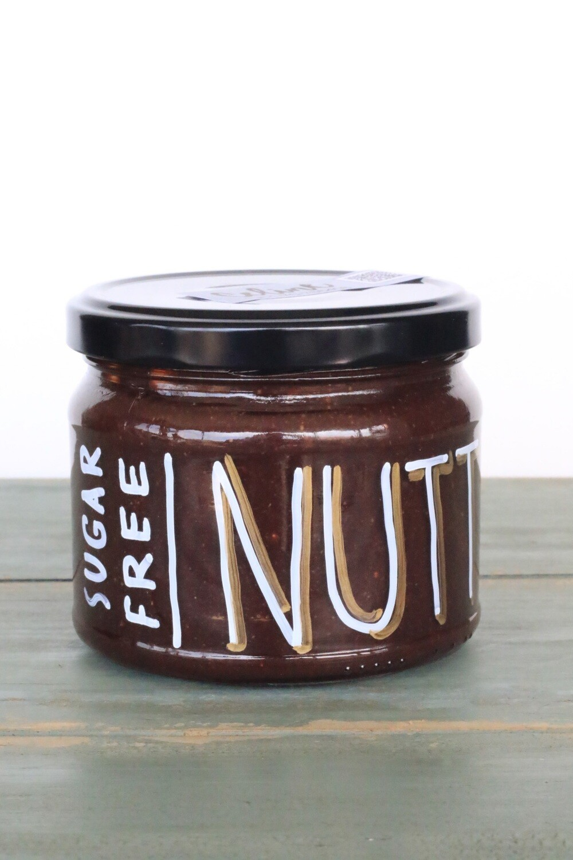 Nutty Chocolate Sugar-Free شوكولاتة خالية من السكر (Jar) - Celine Home Made Delights