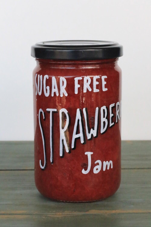 Strawberry Sugar-Free Jam مربى خالي من السكر (Jar) - Celine Home Made Delights