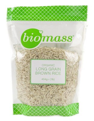 Rice Brown Long Grain Organic أرز بني طويل الحبة عضوي (Bag) - Biomass