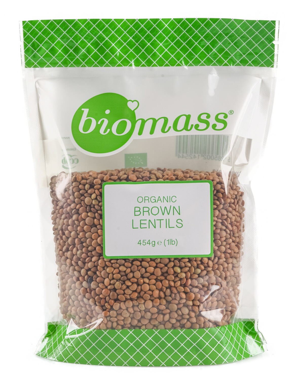 Lentils Dried Brown Crimson Organic عدس بني قرمزي مجفف (Bag) - Biomass