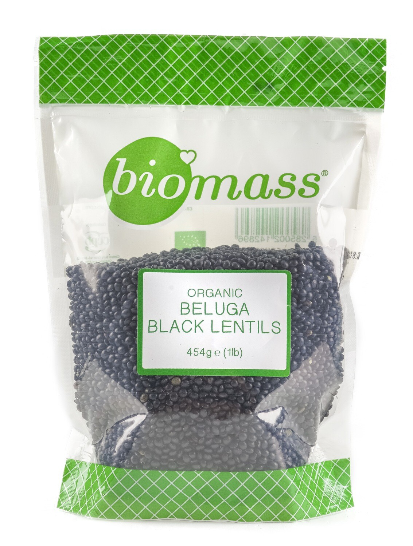 Lentils Black Beluga Dried Organic عدس أسود بيلوجا مجفف عضوي (Bag) - Biomass