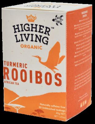 African Roobios Turmeric Tea شاي الكركم الأفريقي روبيوس (Box) - Higher Living Organic