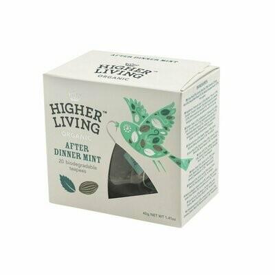After Dinner Mint Biodegradable Tea بعد العشاء شاي النعناع القابل للتحلل (Box) - Higher Living Organic