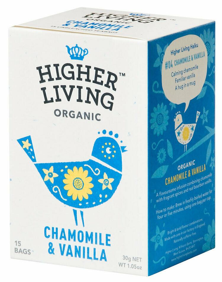 Chamomile & Vanilla Enveloped Tea شاي البابونج والفانيليا (Box) - Higher Living Organic