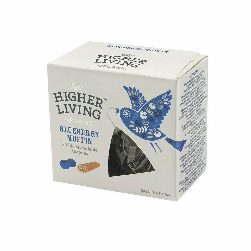 Blueberry Muffin Biodegradable Tea شاي التفاح القابل للتحلل (Box) - Higher Living Organic