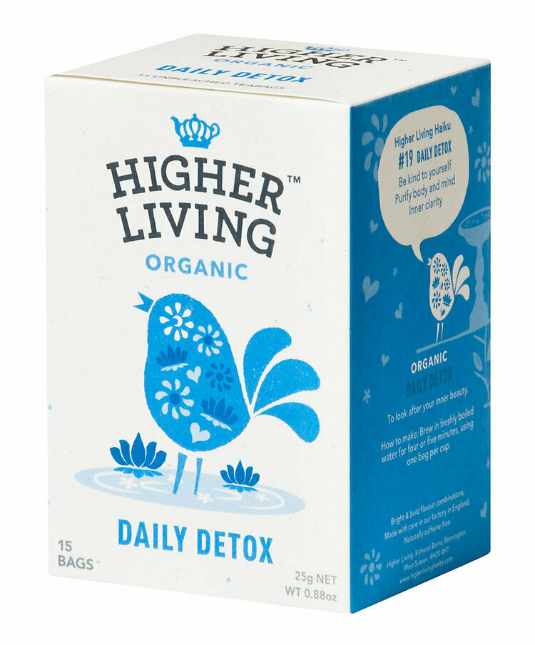 Daily Detox Enveloped Tea الشاي المغلف ديتوكس اليومي (Box) - Higher Living Organic