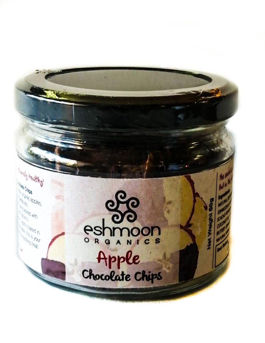 Chocolate Chips Apples رقائق التفاح بالشوكولاتة (Jar) - Eshmoon