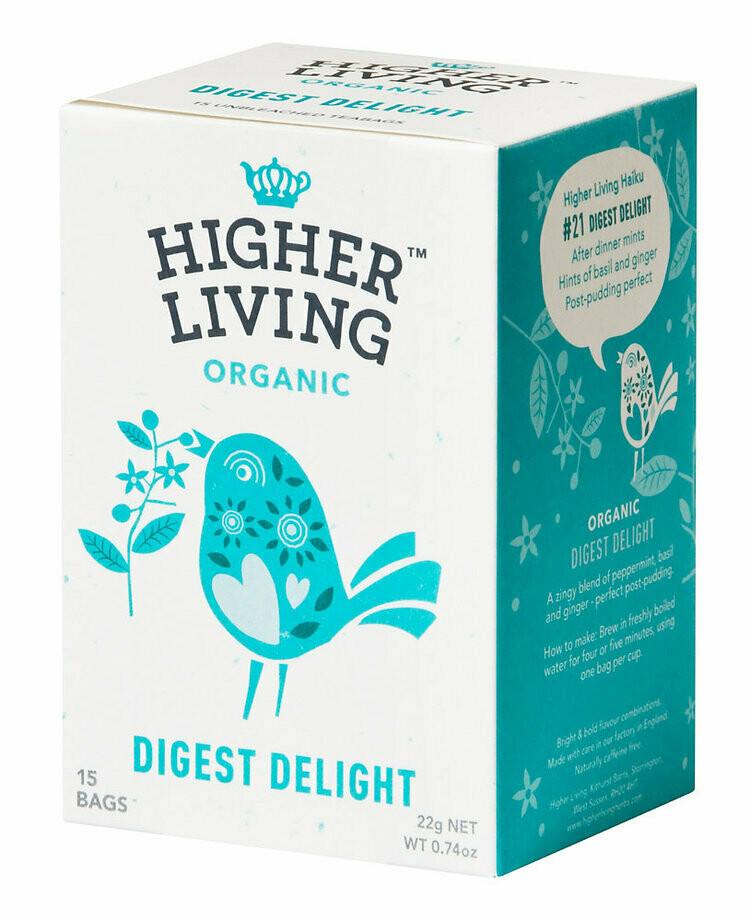 Digest Delight Tea شاي دايجست ديلايت (Box) - Higher Living Organic