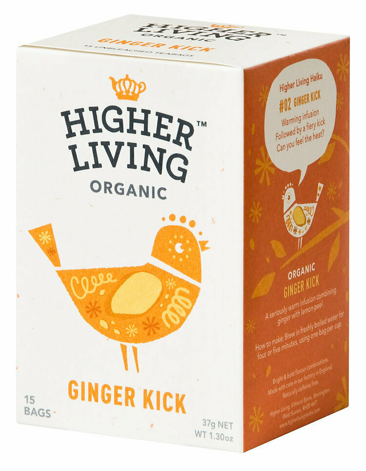Ginger Kick Tea شاي ركلة الزنجبيل (Box) - Higher Living Organic