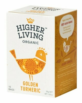 Golden Turmeric Tea شاي الكركم الذهبي (Box) - Higher Living Organic