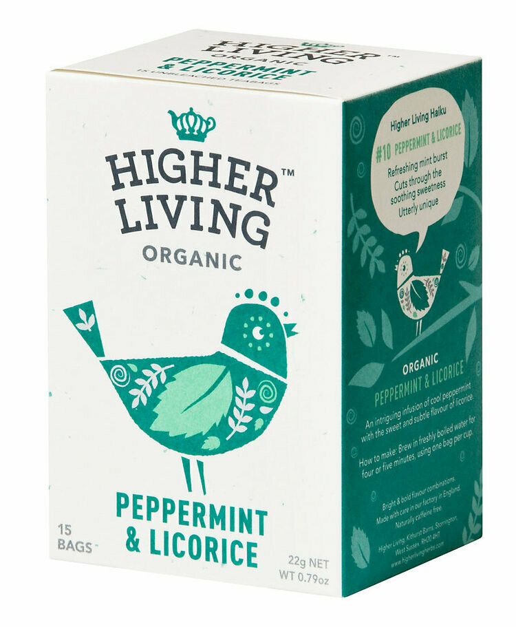 Peppermint & Licorice Tea شاي النعناع وعرق السوس (Box) - Higher Living Organic