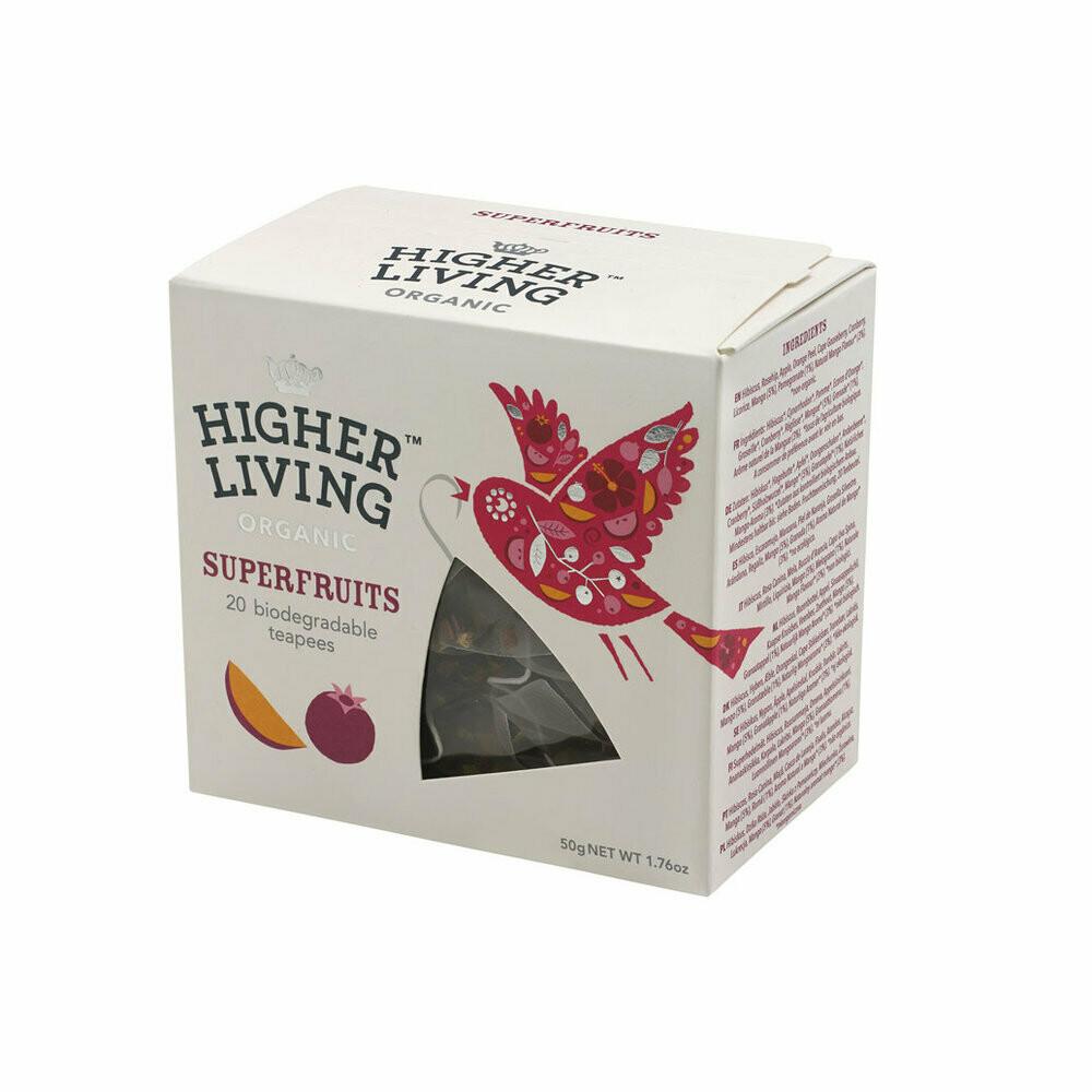 Superfruits Biodegradable Tea الثمار الخارقة شاي (Box) - Higher Living Organic