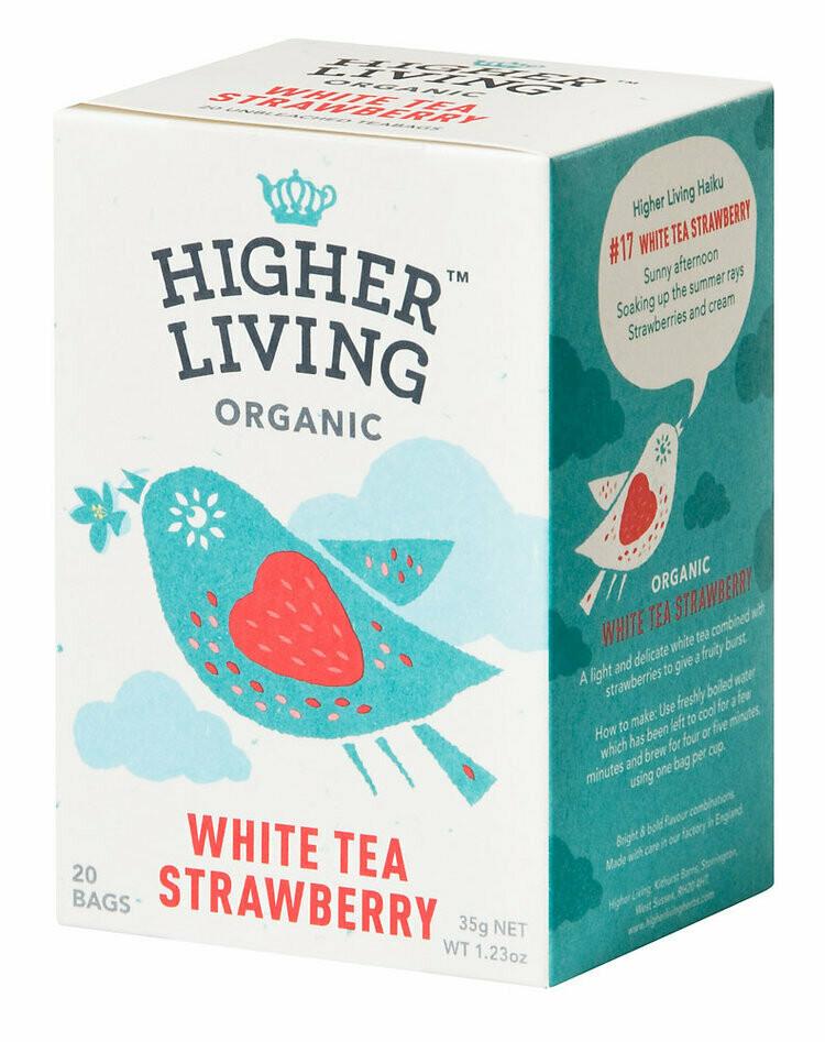 White Strawberry Tea شاي الفراولة الأبيض (Box) - Higher Living Organic