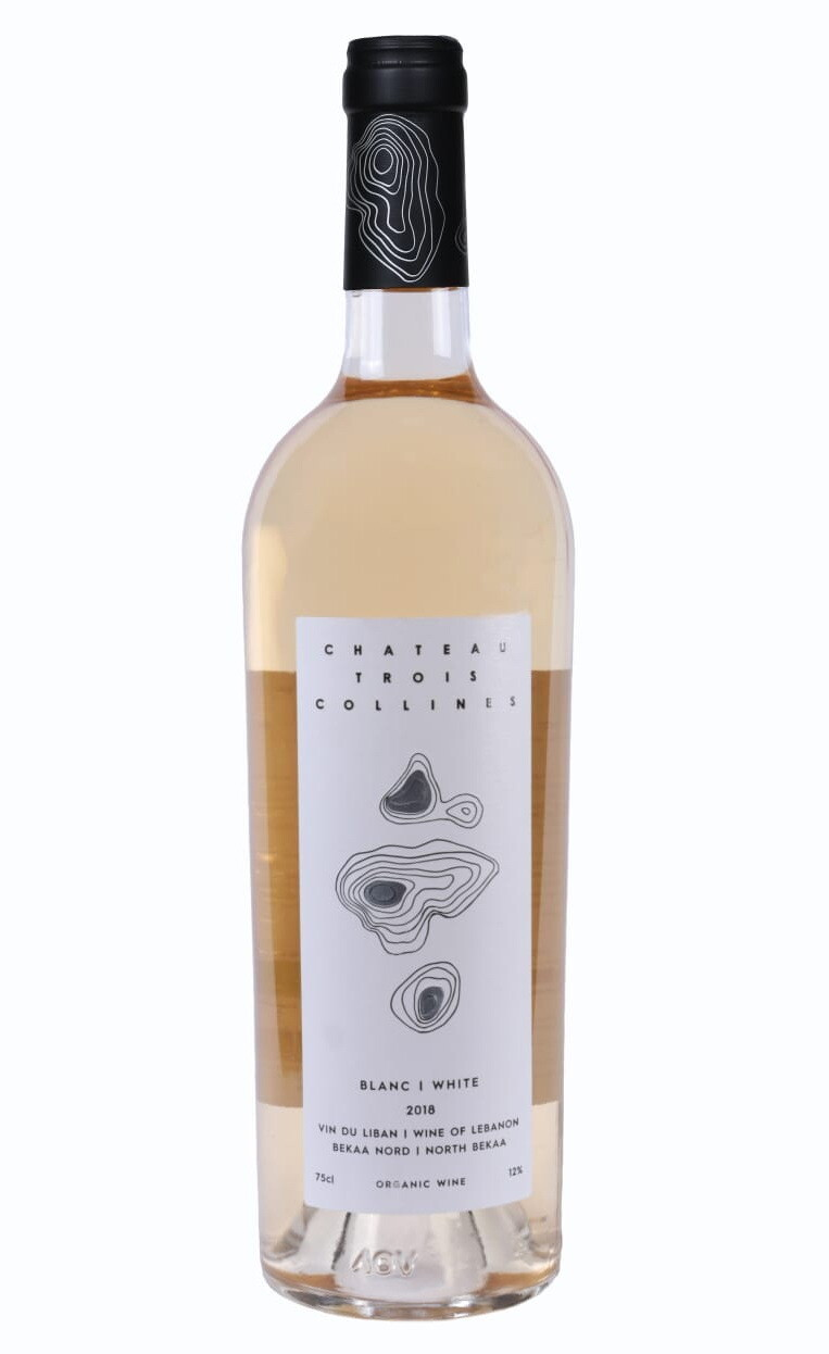 Chateau Trois Collines White 2018 Organic Wine (Bottle)