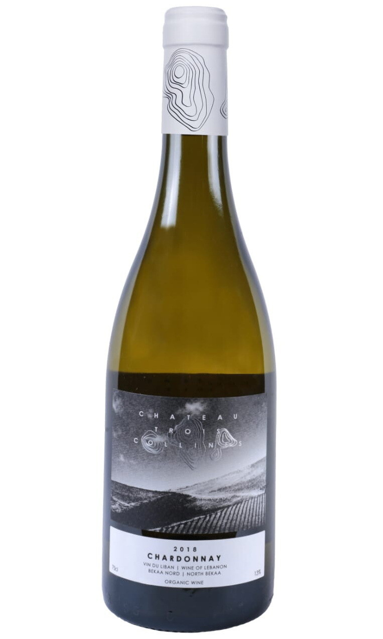 Chateau Trois Collines Chardonnay 2018 Organic Wine (Bottle)