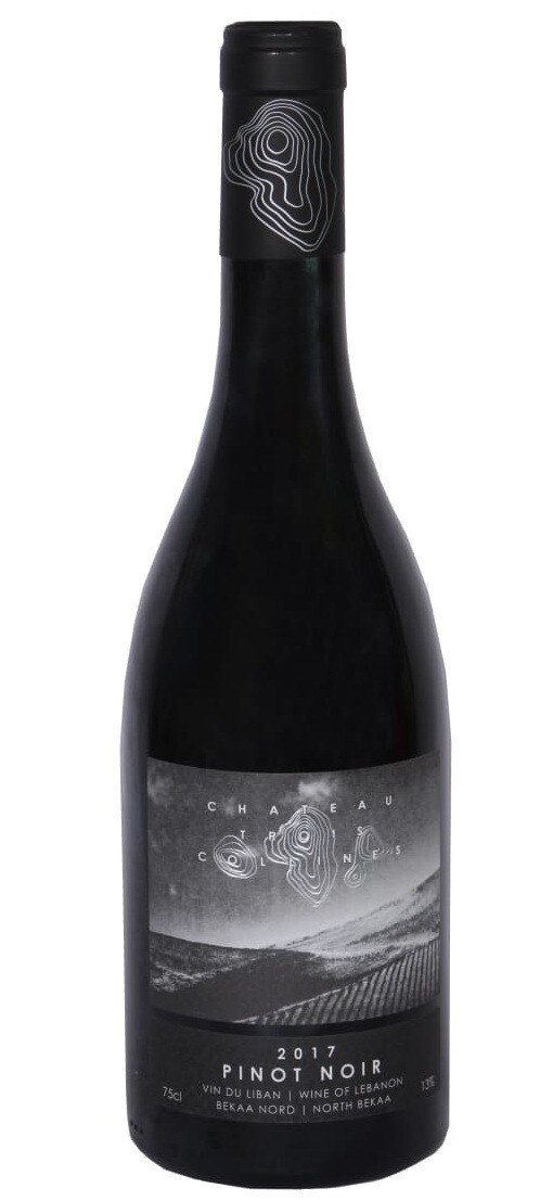 Chateau Trois Collines Pinot Noir 2017 Organic Wine (Bottle)