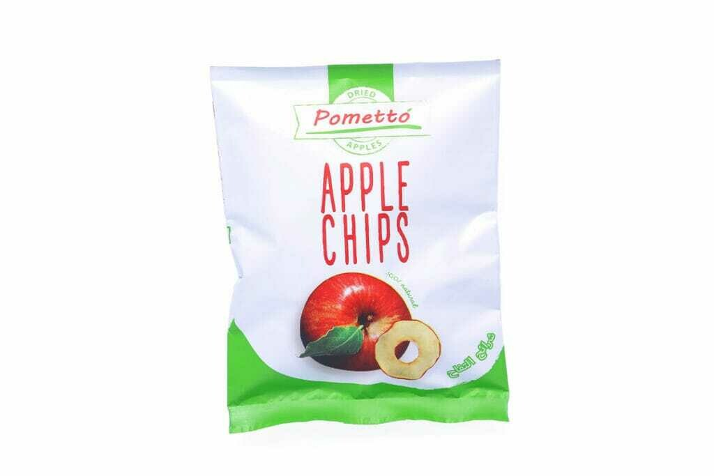 Apple Chips Small رقائق التفاح صغير (Bag) - Pometto