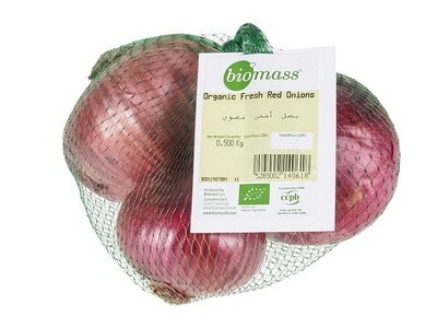 Onion Red Organic بصل أحمر عضوي (Bag) - Biomass