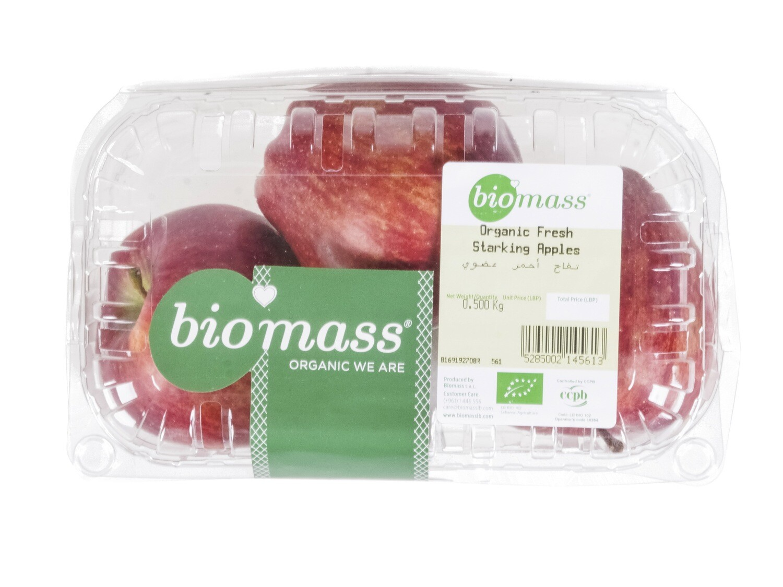 Apples Starking / Red Organic تفاح أحمر عضوي (Box) - Biomass