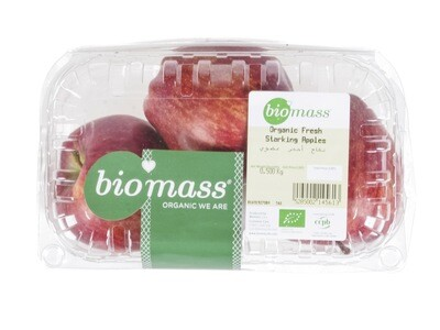 Apples Starking / Red Organic تفاح أحمر عضوي (Box) - Biomass