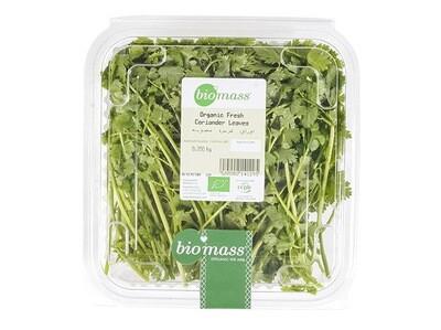 Coriander Leaves Organic أوراق كزبرة عضوية (Box) - Biomass