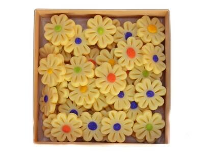 Marzipan 2D Colorful Daisies أقحوانات ملونة ثنائية الأبعاد من مرصبان (Box) - Le Marzipan de Zouk