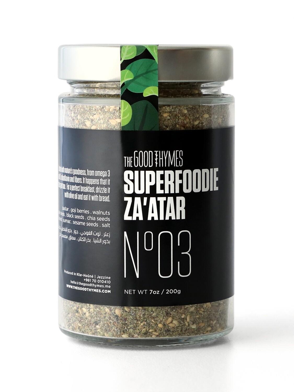 Thyme / Zaatar Superfoodie Mix خليط سوبرفوود الزعتر (Jar) - The Good Thymes