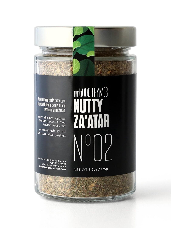 Thyme / Zaatar Nutty Mix  خليط الزعتر بالمكسرات  (Jar) - The Good Thymes