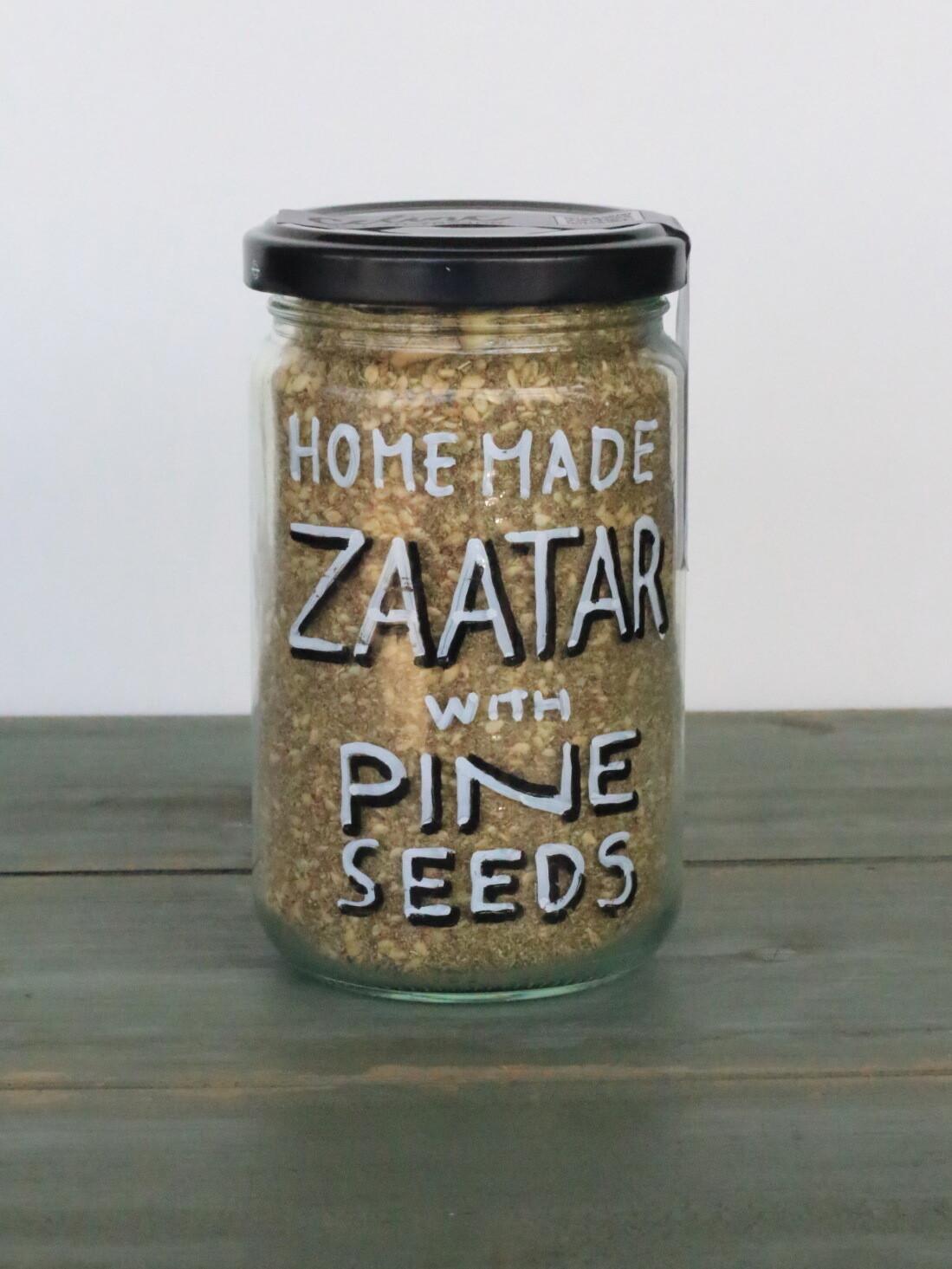 Small Zaatar with Pine Seeds زعتر صغير مع بذور الصنوبر (Jar) - Celine Home Made Delights