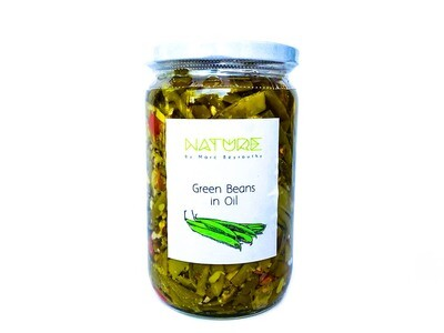Green Beans in Oil لوبيا خضراء بالزيت (Jar) - Nature by Marc Beyrouthy