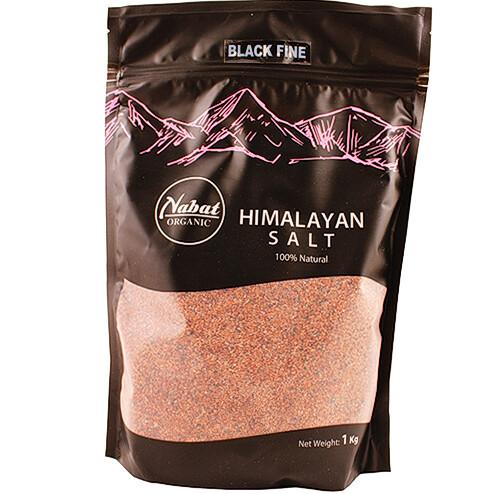 Salt Himalaya Black Fine هيملايا ملح أسود ناعم (Bag) - Nabat Organic