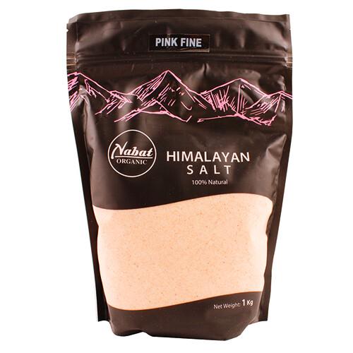 Salt Himalayan Pink Fine ملح الهيمالايا الوردي الناعم (Bag) - Nabat Organic