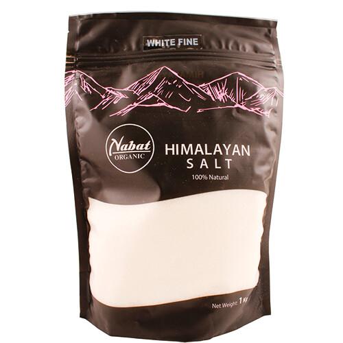 Salt Himalaya White Fine ملح أبيض ناعم من هيمالايا (Bag) - Nabat Organic
