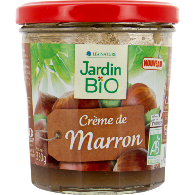 Crème de Marron Bio كريمة الكستناء العضوية (Jar) - Jardin Bio