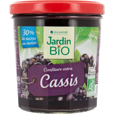 Confiture Biofruit Cassis Bio مربى الكشمش الأسود العضوي (Jar) - Jardin Bio