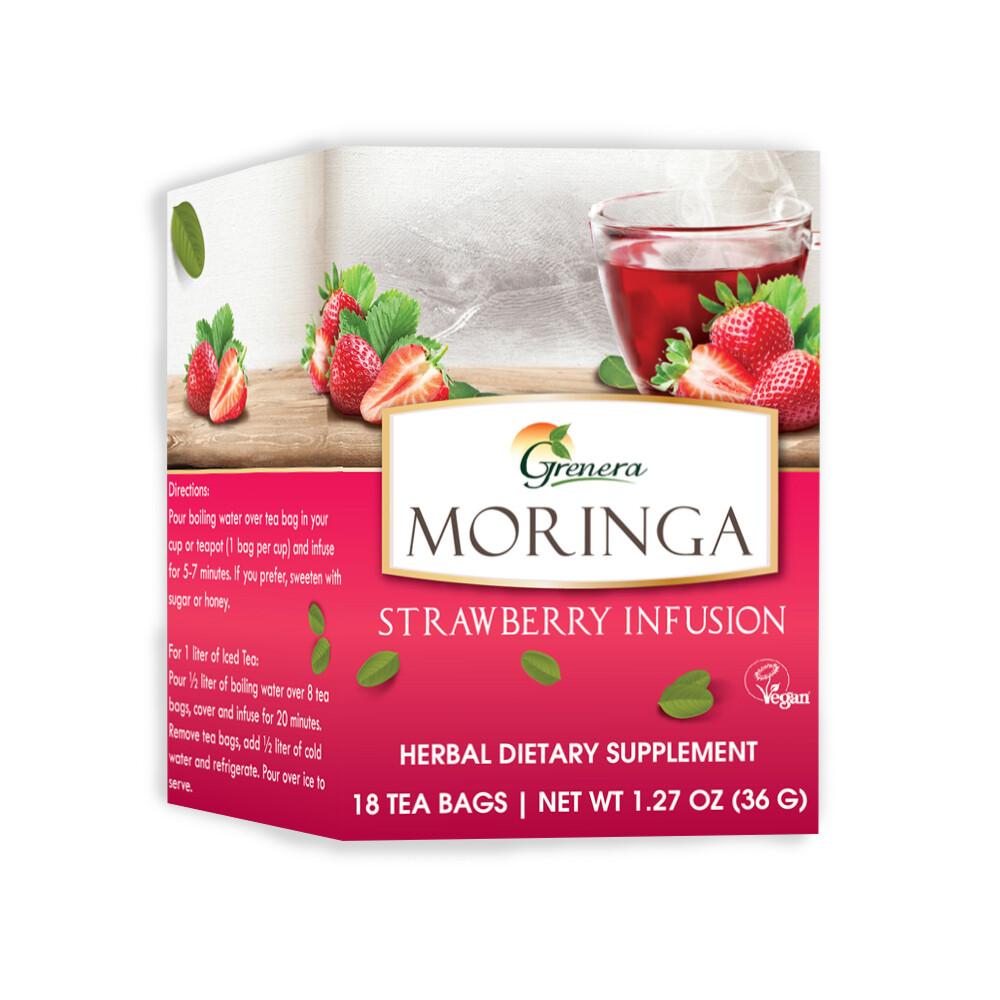 Moringa Strawberry Tea شاي المورينجا بالفراولة (Box) - Greenera