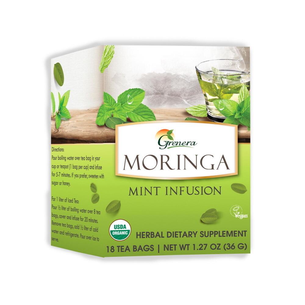 Moringa Mint Tea شاي المورينجا بالنعناع (Box) - Greenera