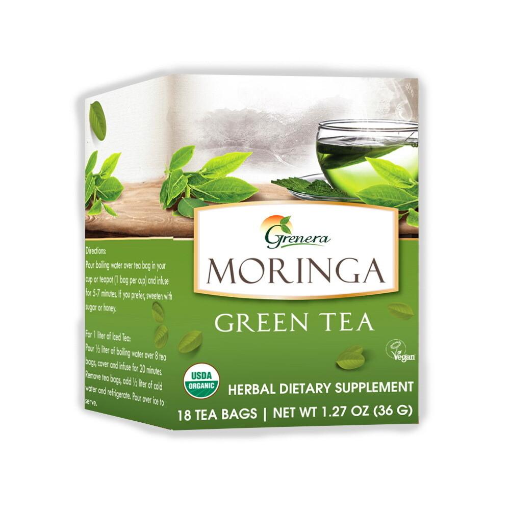 Moringa Green Tea شاي المورينجا الأخضر (Box) - Greenera