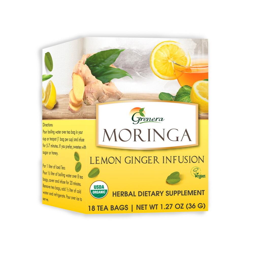 Moringa Lemon Tea شاي المورينجا بالليمون (Box) - Greenera