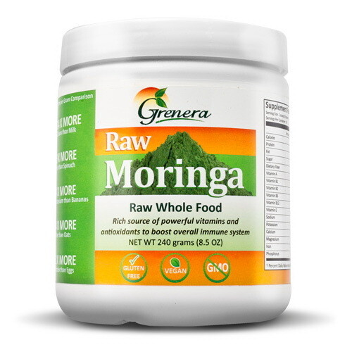 Moringa Oleifera Leaf Powder مسحوق أوراق المورينجا أوليفيرا (Box) - Greenera