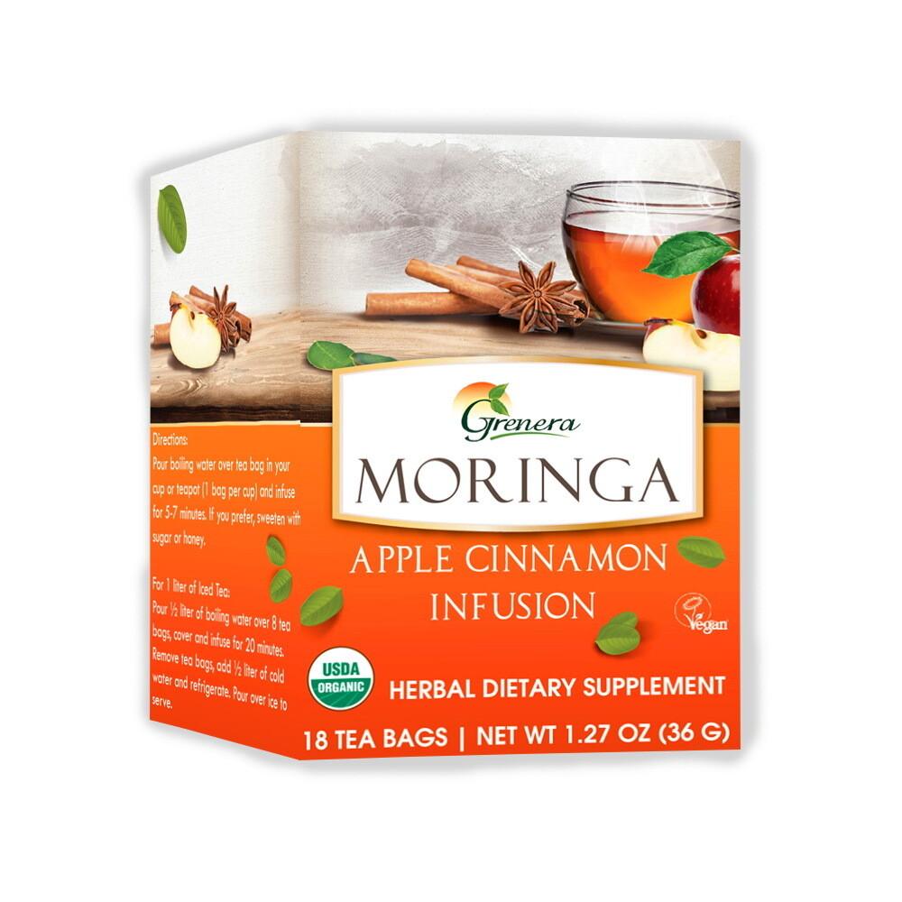 Moringa Apple Cinnamon Tea شاي المورينجا والتفاح والقرفة (Box) - Greenera