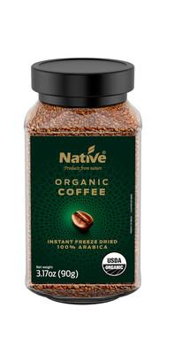 Coffee Organic Freeze Dried Instant قهوة عضوية مجففة بالتجميد  (Jar) - Native